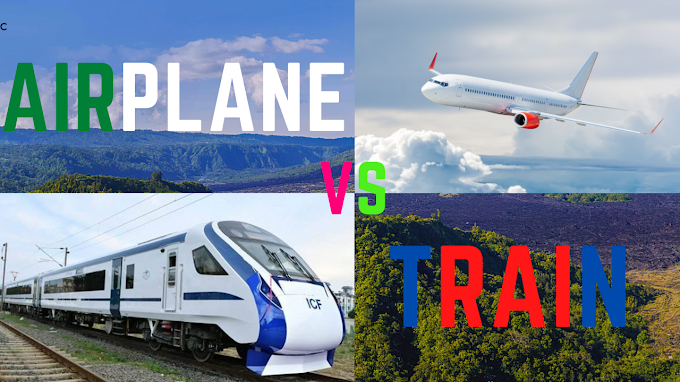 Compare and contrast train and airplane