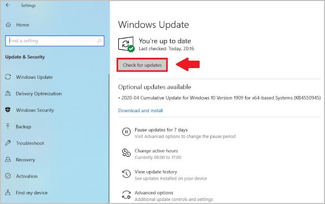 Windows 10 Driver Update.