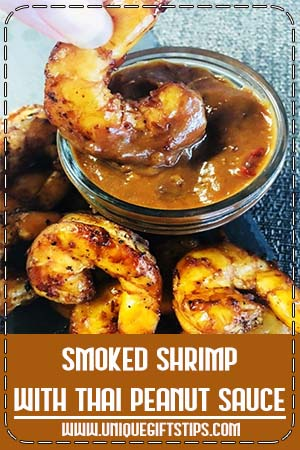 Smoked Shrimp with Thai Peanut Sauce is a unique blend of smoky, sweet, spicy, and salty flavors making it the perfect dinner or appetizer for any occasion