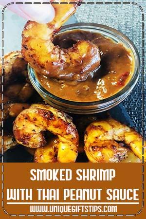Smoked Shrimp with Thai Peanut Sauce