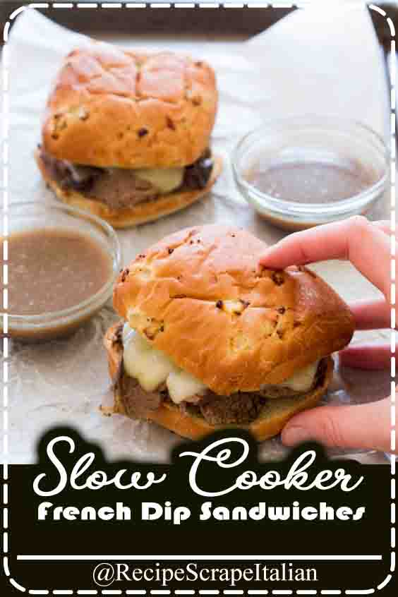 Slow cookware French Dip Sandwiches. Tender beef joint overdone low and slow and served on crusty bread with provolone cheese. a brilliant simple build ahead meal! Slow cookers ar the most effective. Throw all of the ingredients along within the slow cookware and dinner is prepared in 6-8 hours. however awe-inspiring is that? better of all there's concerning five minutes of preparation time.    Slow cookers ar a good thanks to cook pot roasts low and slow while not keeping the kitchen appliance on all day. The meat winds up super tender, juicy and loaded with flavor.  I sear the roast during a super hot pan before putting it within the slow cookware. this provides the roast most flavor and helps lock in the juices. The longer the chuck roast cooks the longer it's to interrupt down the connective tissues and become tender.    How to build slow cookware french dip sandwiches  Simply sear the roast and throw the remainder of the ingredients into the slow cookware. Cook for 6-8 hours on low. take away the roast and strain out the onions (reserve liquid). Strain off any fat off the broth and serve aboard the sandwiches. high every sandwich with two slices of provolone cheese and place underneath a broiler till the cheese is liquid. #cook #eat #food