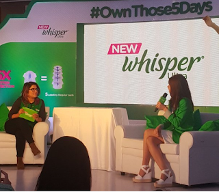 #OwnThose5Days Whisper Out Loud Blogger Hangout