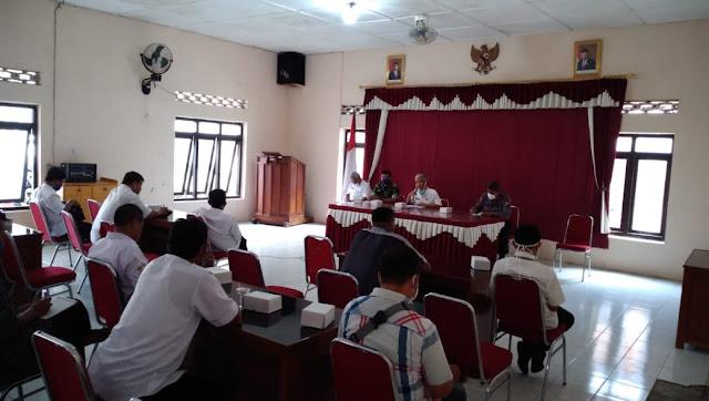 Muspika Kecamatan Pedan Gelar Rapat Koordinasi Penanggulangan Covid-19
