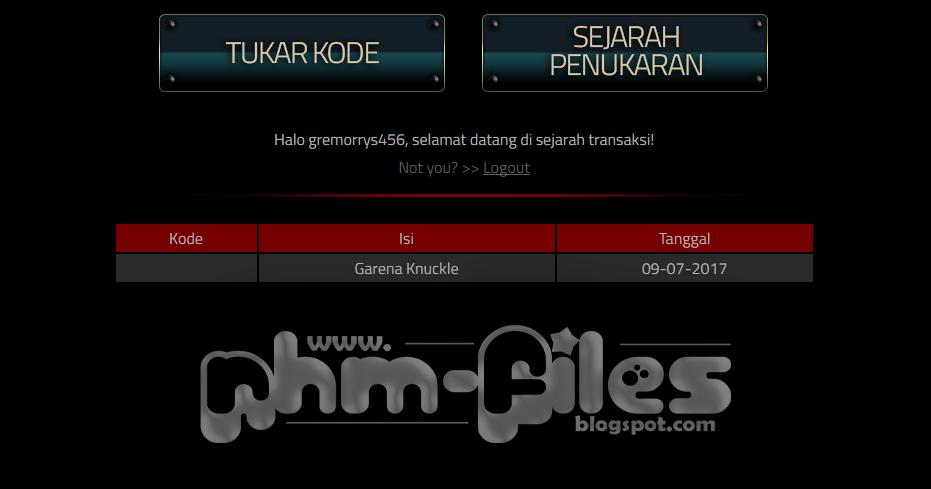 Redeem Code Terbaru Senjata Knuckle Garena Permanent Juli ...