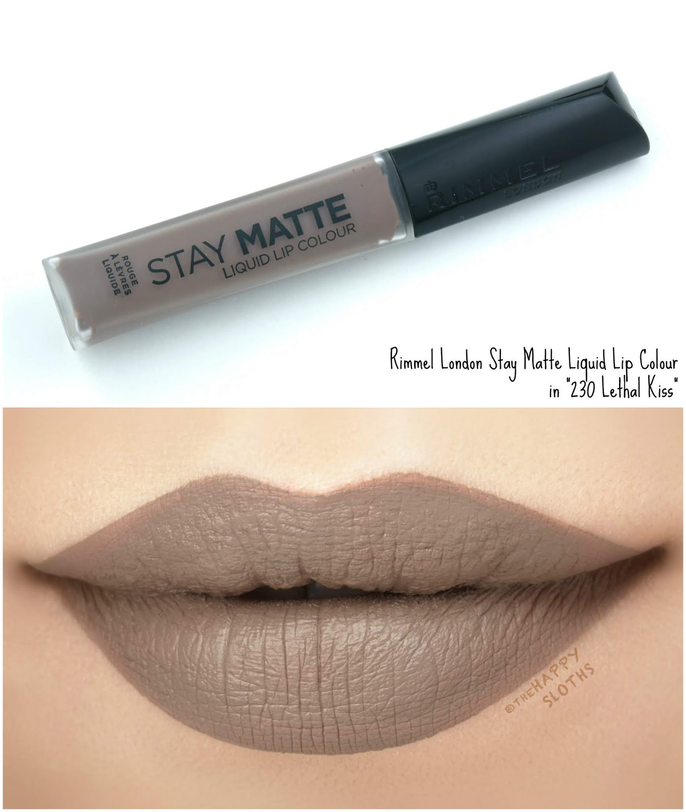 "Rimmel London | Stay Matte Liquid Lip Colour in ""230 Lethal Kiss"": Review and Swatches"