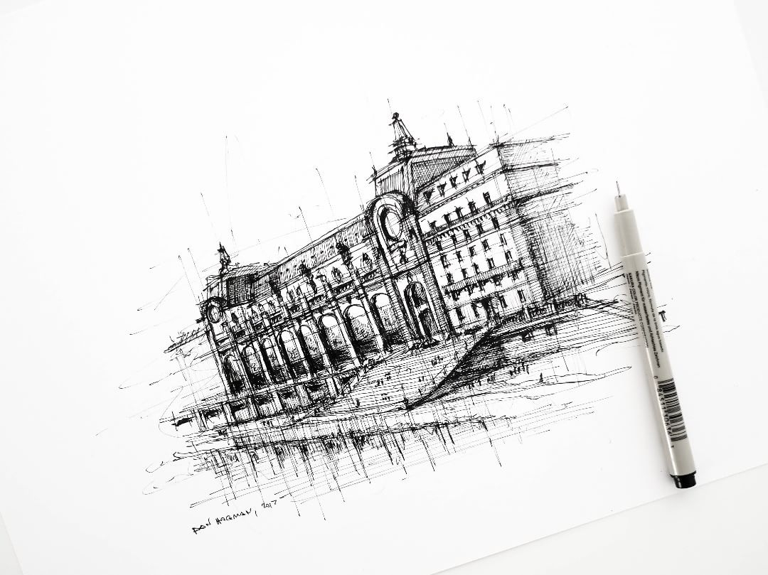 03-Musee-d-Orsay-Dan-Hogman-Urban-Sketches-of-Paris-in-France-www-designstack-co