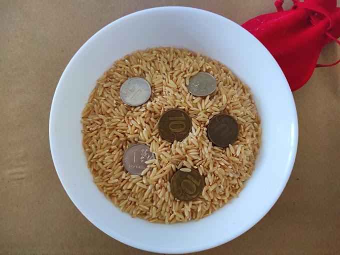 Притягиваем деньги с помощью риса и монет. Как сделать свою полную чашу для дома