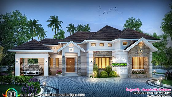 Outstanding single floor house rendering