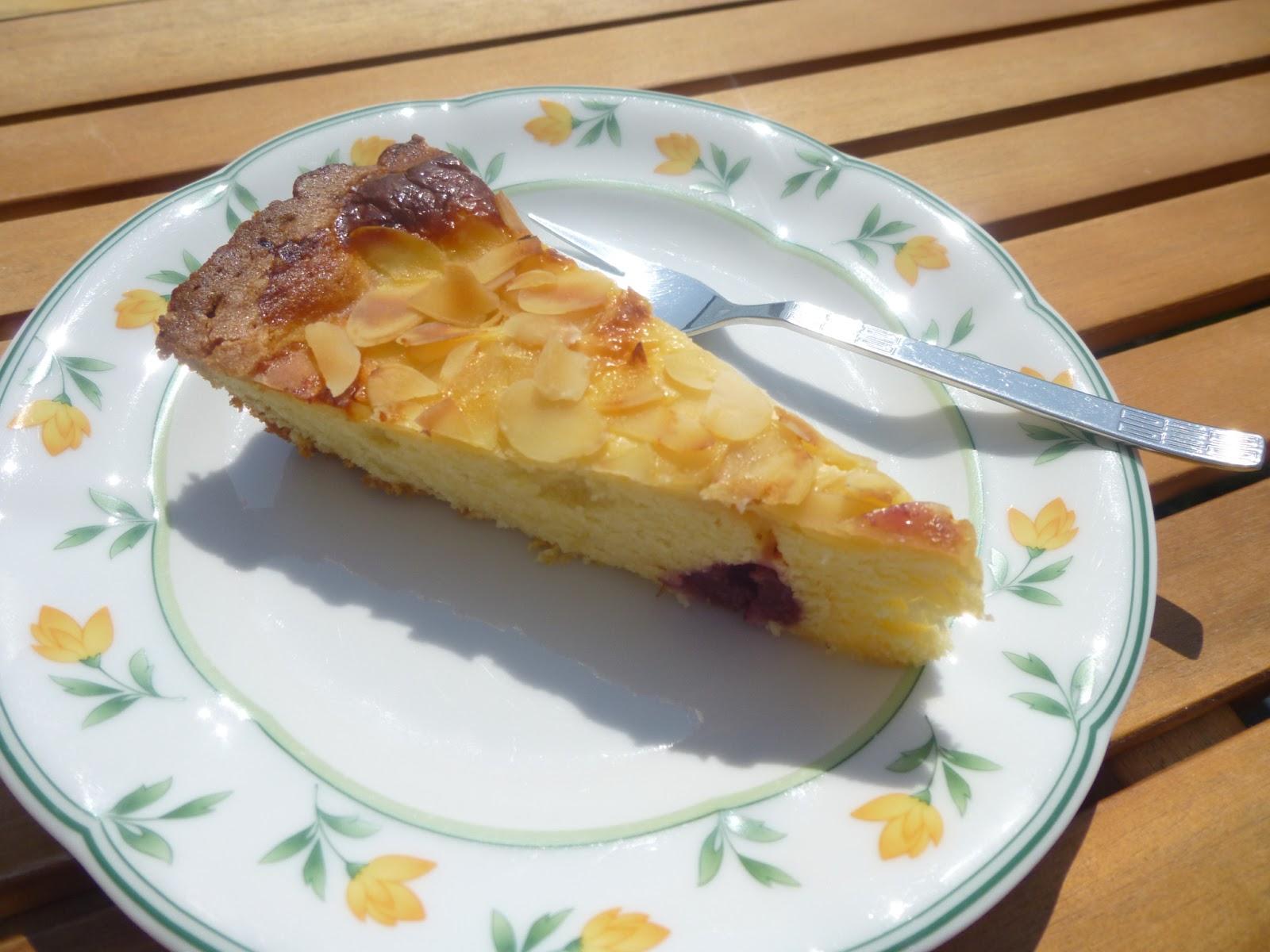 Suss Und Kostlich Kirsch Schmand Kuchen Mit Mandeln Suss Saftig