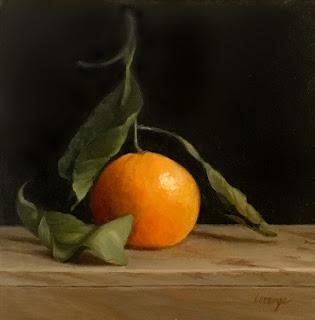Mandarin orange, clementine, classical still life