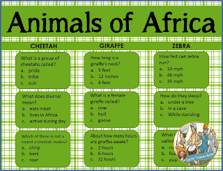 Animals of Africa powerpoint