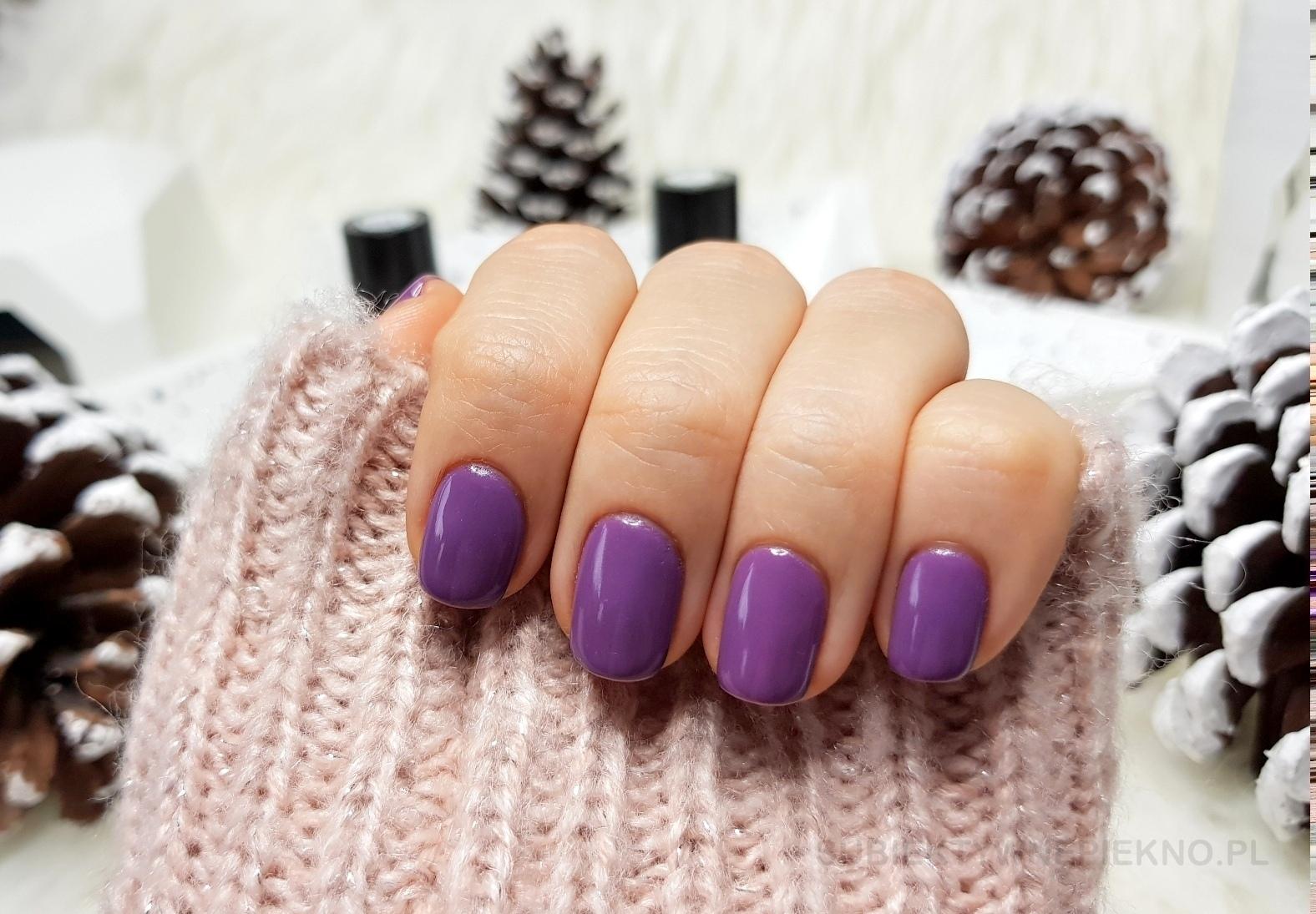 Lakier hybrydowy Chiodo Pro Affair 021 swatche na paznokciach, idealny kolor na zimę