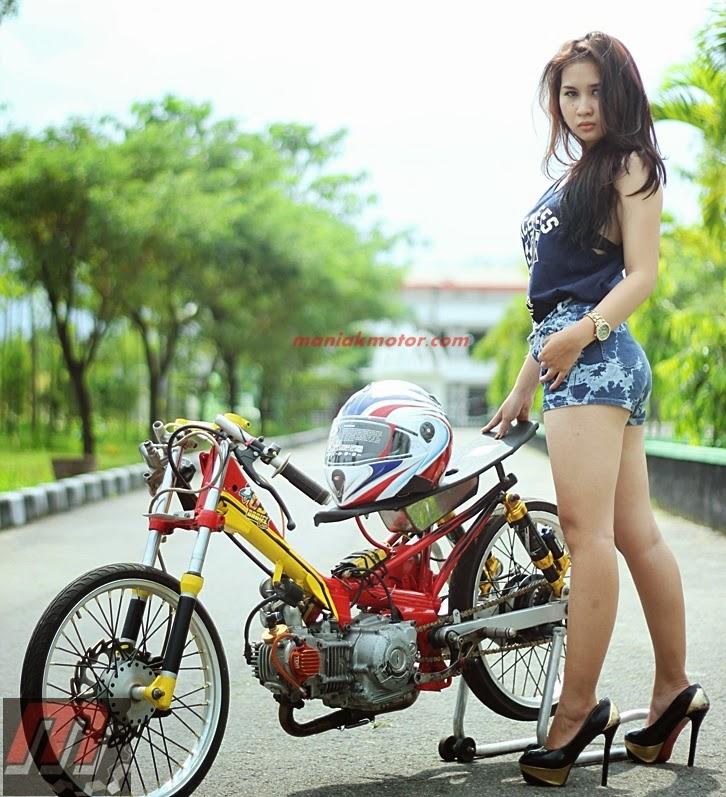 Fashion Cewek Drag Bike Waw Banyak Yang Muyus  ZMS OROK Speed