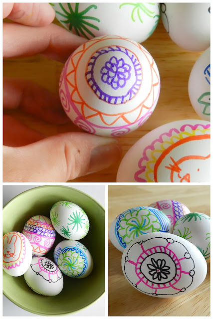 Decorate Easter Eggs with Permanent Markers