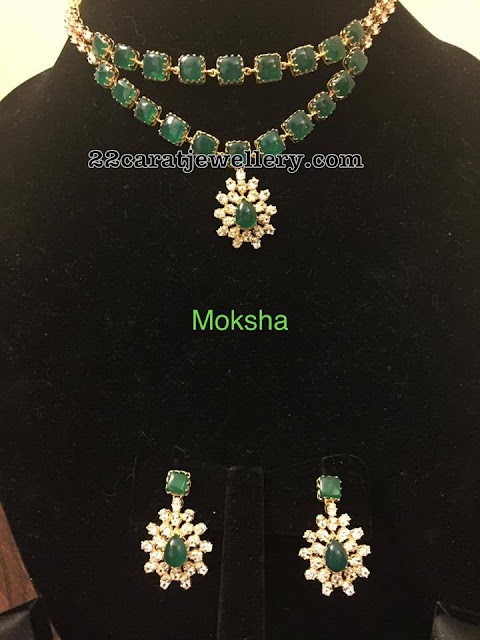 Two Layer Emerald Necklace