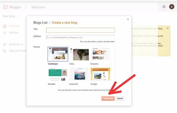 Blogger me Free blog kaise banaye,WordPress par free blog kaise banaye