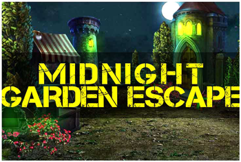 MirchiGames - Midnight Garden Escape