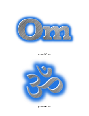 Beautiful Images of Om in English and Hindi Text