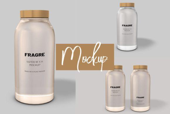 Logo and Label 3d Bottle Mockup[Photoshop][6171957]