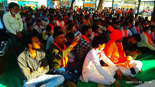 जनजाति गौरव दिवस पर वाहन रैली निकाल कर भगवान बिरसा मुंडा जी की जयंती मनाई