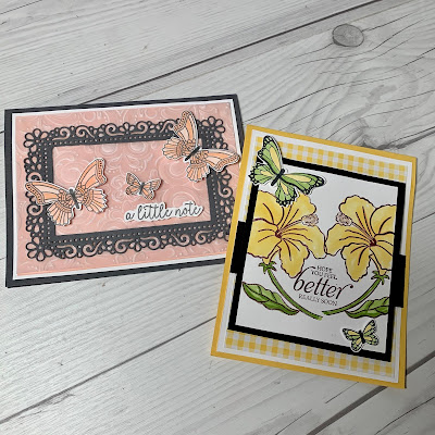 Two card ideas using the Butterfly Gala Stamp Set
