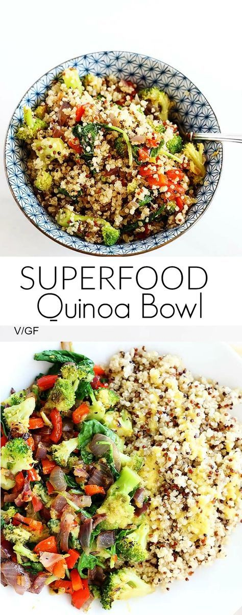 SUPERFOOD QUINOA BOWL #superfood #quinoa #bowl #lunch #lunchrecipes #easylunchrecipes