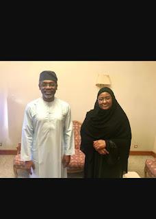 20190809 151559 - Picture of Gbajabiamila and Aisha Buhari in Mecca -@9jasuperstar