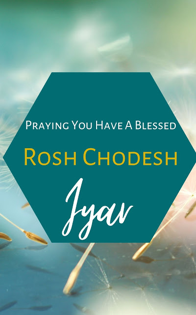 Happy Rosh Chodesh Iyar Greeting Card | 10 Free Beautiful Cards | Happy New Month | Second Jewish Month
