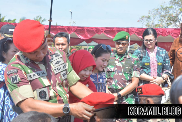 Danjen Kopassus Lantik Sebanyak 177 Prajurit Kopassus Angkatan 102