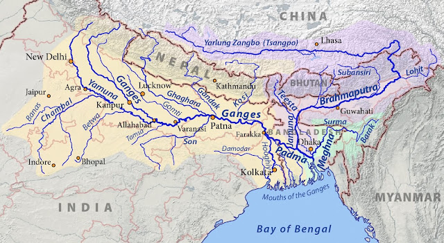 The Ganga River | Map | GangaaJal | Origin | Water - Short Essay