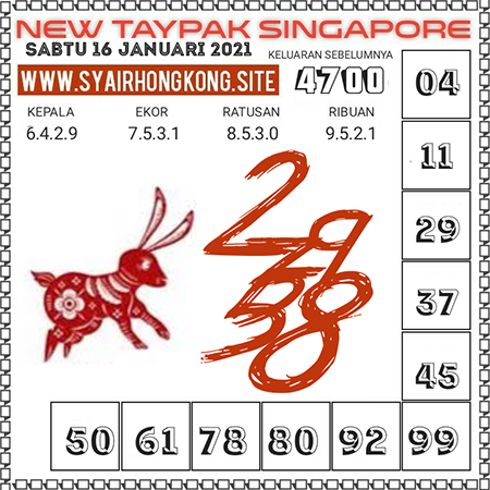 Prediksi Togel New Taypak Singapura Sabtu 16 Januari 2021