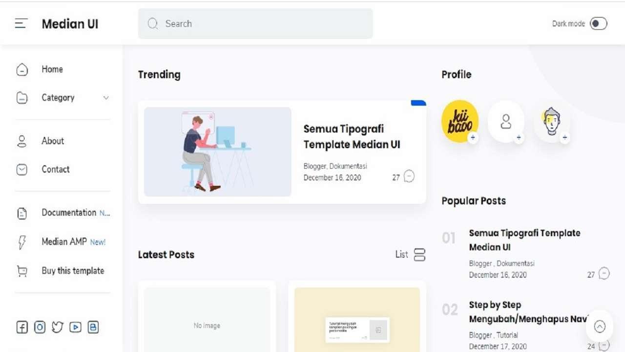 Median UI v1.4 Blogger Template - DhykaShare