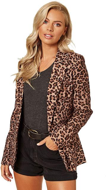 Leopard Animal Pattern Blazers for Women