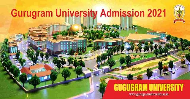 Gurugram University Gurugram Online Admission 2021