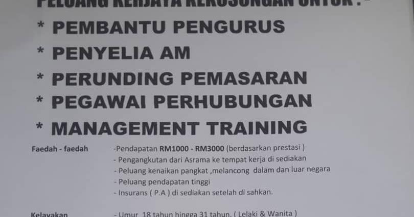 Temuduga Terbuka Cannergy Sdn Bhd Di JMC-UTC Kelantan