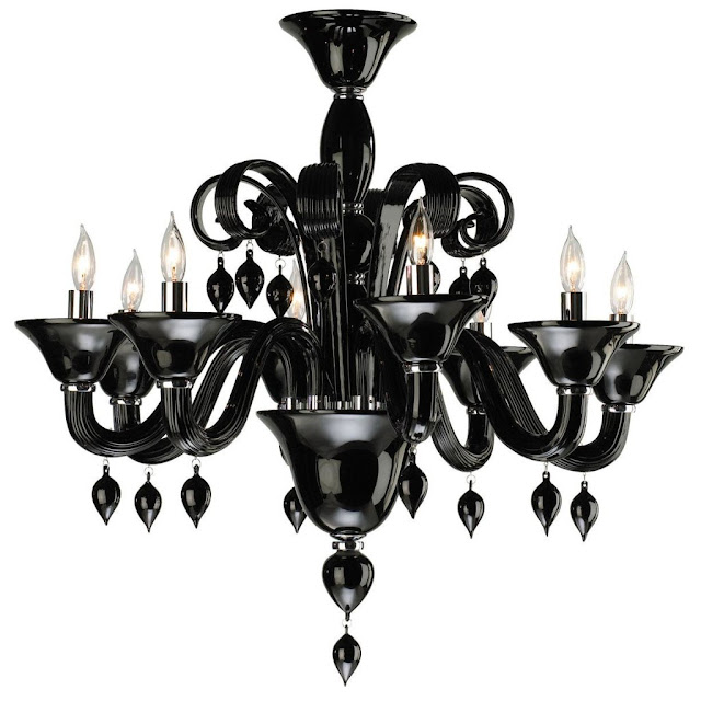modern black chandelier design
