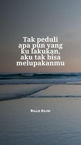 Quotes : Tak peduli apa pun yang ku lakukan, aku tak bisa melupakanmu