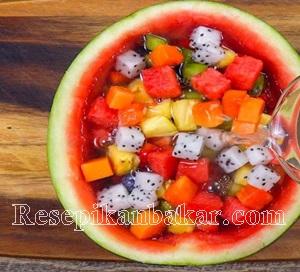 Cara membuat resep puding buah semangka