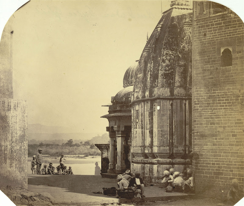 Temple and Ghat in Haridwar - Circa 1860's