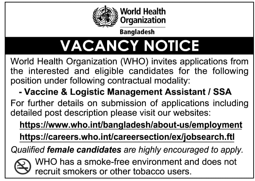 WHO Job Circular 2021