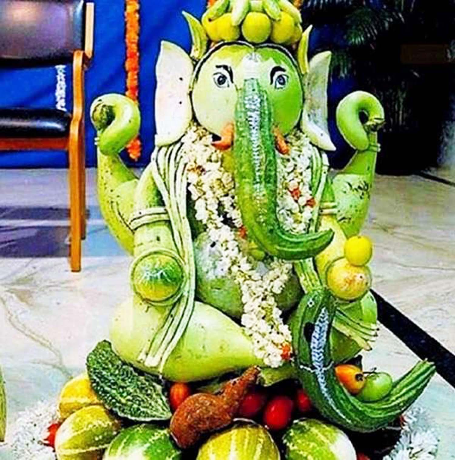 Edible Eco friendly ganesha idol!