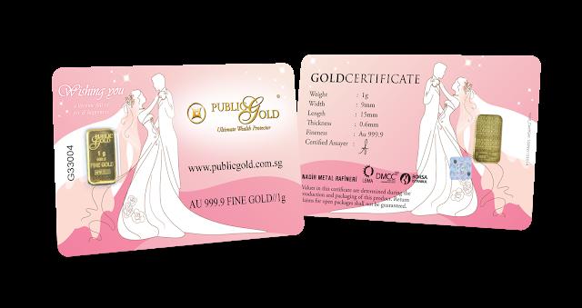 Gold Bar 1 g Edisi Wedding