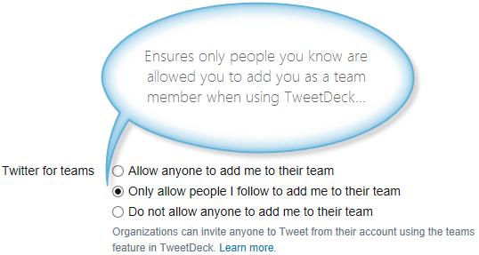 Twitter team adding setting
