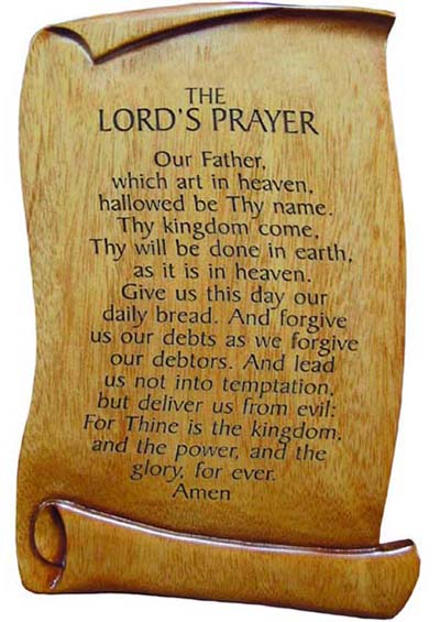 Eloquent image regarding printable copy of the lord's prayer
