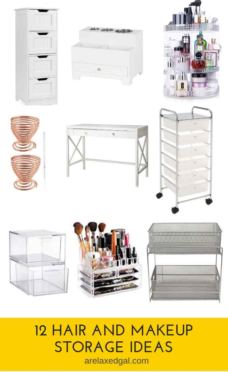 12 Storage Ideas For Your Hair & Makeup Products | A Relaxed Gal