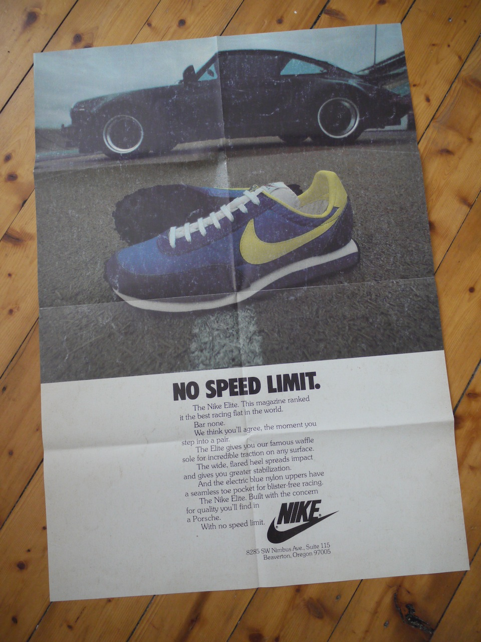 Royal Cheese Vintage Nike Ads Poster