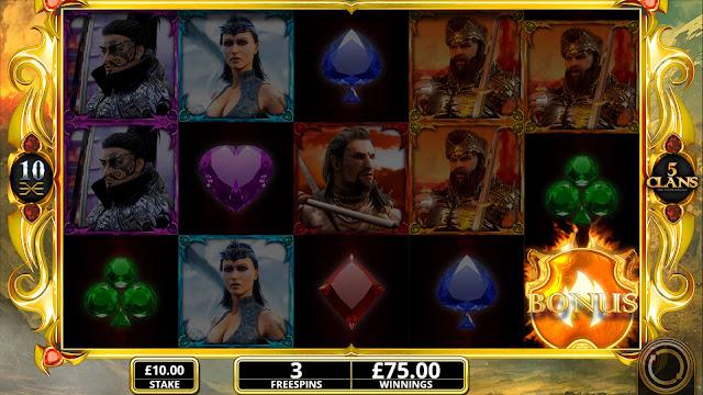 5 clans - free spins bonus