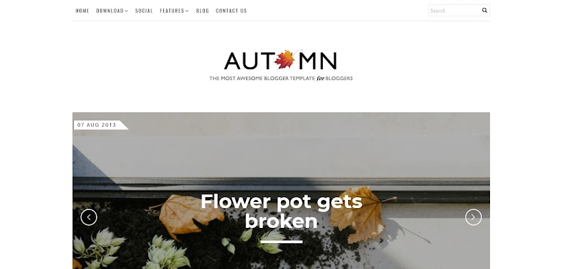 Autumn Free Blogger Template