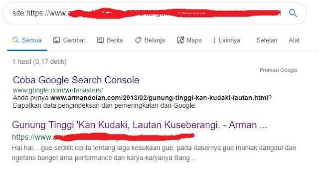 cara cek indeks di google