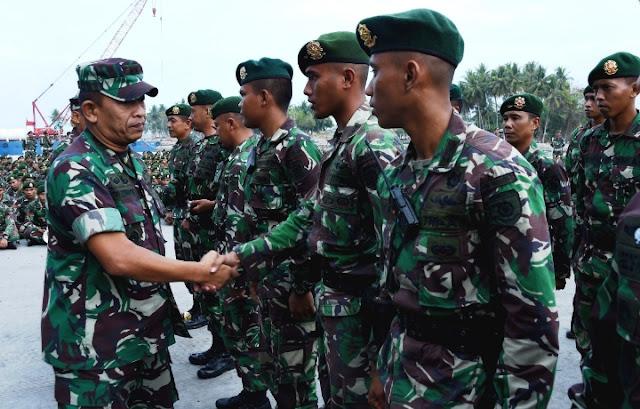 1.335 Prajurit TNI Kogasgabpad Ditarik Dari Sulteng